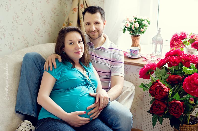 Фотосессия беременной  в фотостудии Fusion